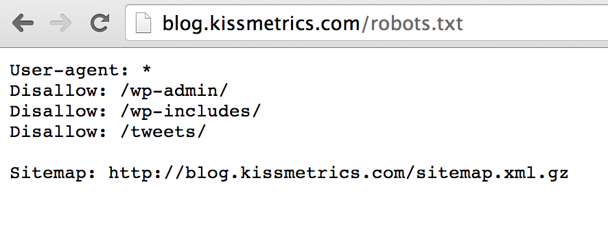 KISSmetrics Blog Robots File