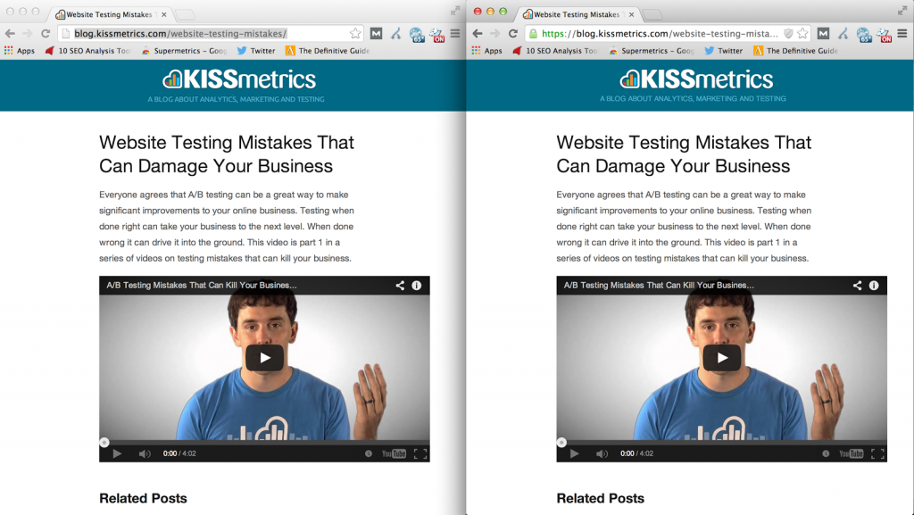 KISSmetrics Dual URLs