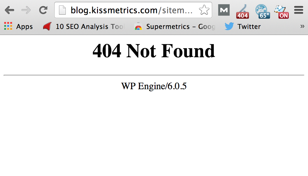 KISSmetrics Site Map Does Not Work